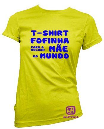 T-shirt Fofinha para a Melhor Mãe do Mundo