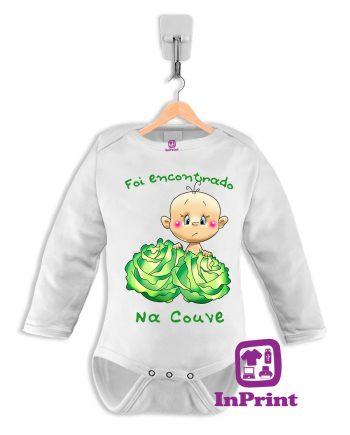 Foi-encontrado-na-couve-baby-body-personalizada-estampagem-aveiro-Coimbra-Anadia-roupa-manga-comprida