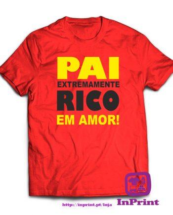 Pai-extremamente-rico-em-amor-personalizada-estampagem-aveiro-Coimbra-Anadia-roupa-T-SHIRT-SWEAT-HOODIE-sweatshirt-casaco-inprint-vermelhoT-Shirt-Male