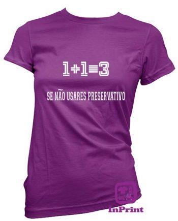 1+1=3-personalizada-estampagem-aveiro-Coimbra-Anadia-roupa-T-SHIRT-SWEAT-HOODIE-sweatshirt-comprar-online-roxo-T-Shirt-FeMale