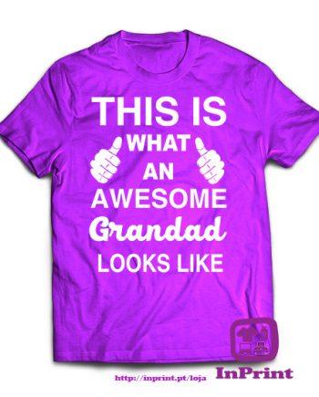 Awesome-Grandad-personalizada-estampagem-aveiro-Coimbra-Anadia-roupa-T-SHIRT-SWEAT-HOODIE-sweatshirt-casaco-inprint-comprar-online-T-Shirt-Male