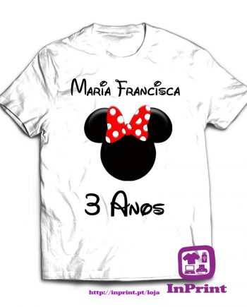 Minnie-Mickey-estampagem-aveiro-Coimbra-Anadia-roupa-T-SHIRT-SWEAT-HOODIE-sweatshirt-casaco-inprint-comprar-online-T-Shirt Crianca