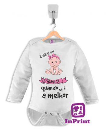 E-dificil-de-ser-humilde-personalizada-estampagem-aveiro-Coimbra-Anadia-Portugal-roupa-comprar-foto-online-bebe-prenda--baby-body-manga-comprida