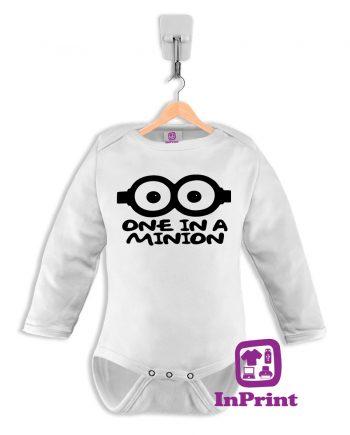 One-in-a-Minion-personalizada-estampagem-aveiro-Coimbra-Anadia-Portugal-roupa-comprar-foto-online-bebe-prenda-baby-body-manga-comprida