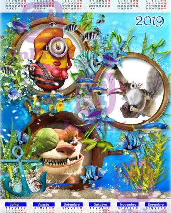 Calendario-Moldura-Mar azul-personalizado-foto-online-comprar-Portugal-Anadia-Coimbra-Aveiro-imprimir