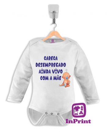 Careca-Desempregado-ainda-vivo-com-a-mae-body-personalizada-estampagem-aveiro-Coimbra-Anadia-Portugal-roupa-comprar-foto-online-bebe-prenda-baby-body