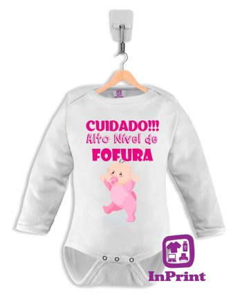 Cuidado-Alto-nivel-de-fofura-personalizada-estampagem-aveiro-Coimbra-Anadia-Portugal-roupa-comprar-foto-online-bebe-prenda-baby-body