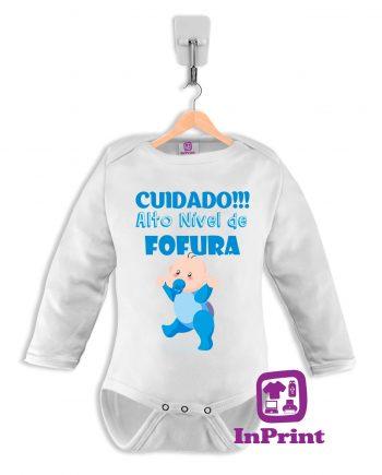 Cuidado-Alto-nivel-de-fofura-personalizada-estampagem-aveiro-Coimbra-Anadia-Portugal-roupa-comprar-foto-online-bebe-prenda--baby-body