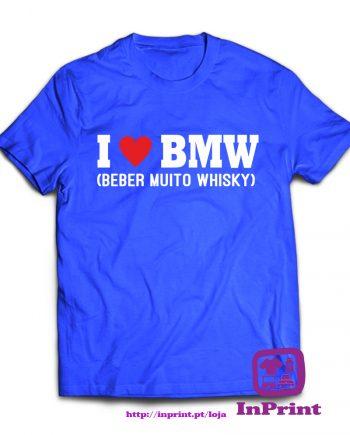 I-Love-BMW-(beber-muito-Whisky)-estampagem-aveiro-Coimbra-Anadia-roupa-HOODIE-sweatshirt-casaco-inprint-comprar-online-personalizado-bordado-prenda-oferta-T-Shirt-Male