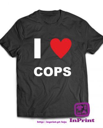 I-Love-Cops-estampagem-aveiro-Coimbra-Anadia-roupa-HOODIE-sweatshirt-casaco-inprint-comprar-online-personalizado-bordado-prenda-oferecer-T-Shirt-Male
